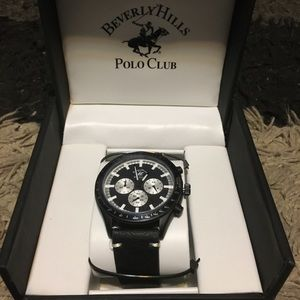 Brand New Polo Watch Black Leather